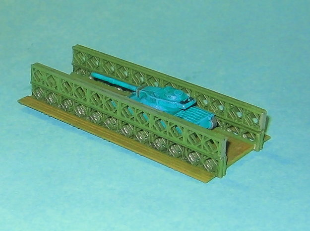 Bailey Bridge 1/285 6mm 3d printed With upper Girder