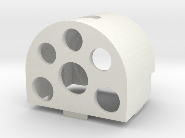 Gauge 3 Neilson Firebox in White Natural Versatile Plastic