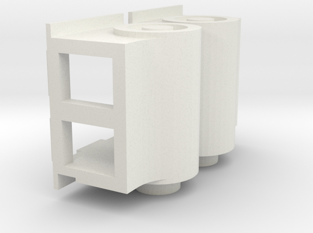 Gauge 3 Neilson Cylinders in White Natural Versatile Plastic