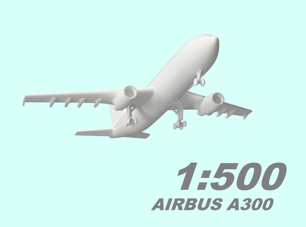 1:500 Airbus A300 in Smooth Fine Detail Plastic