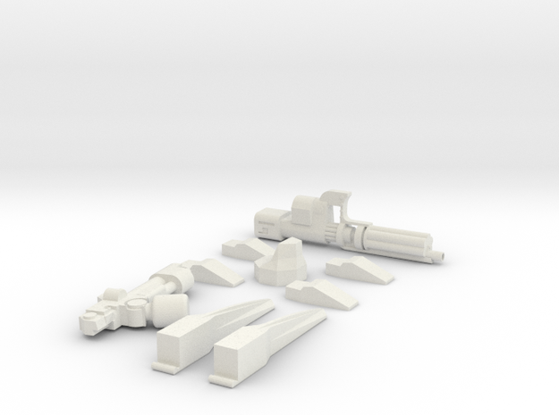 weapons for servo harness or robot conversions in White Natural Versatile Plastic