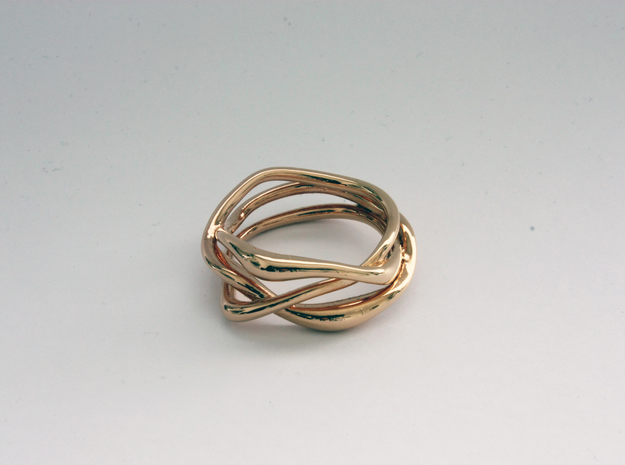 Erato ring in 14k Rose Gold Plated Brass