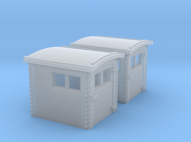 N&W Style Dog House HO Scale 1:87 x2 in Smooth Fine Detail Plastic