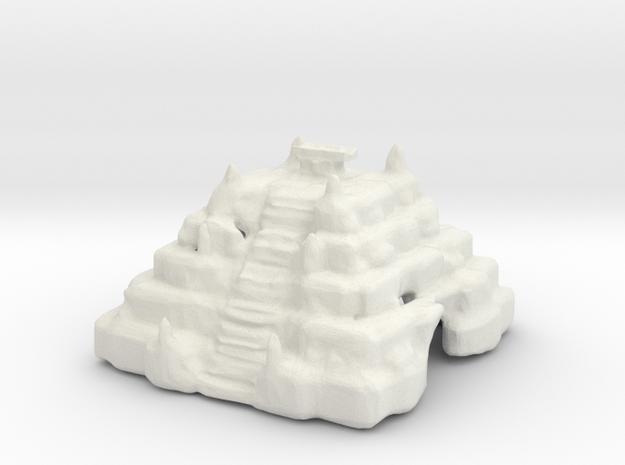 The temple of the crimson herald! in White Natural Versatile Plastic