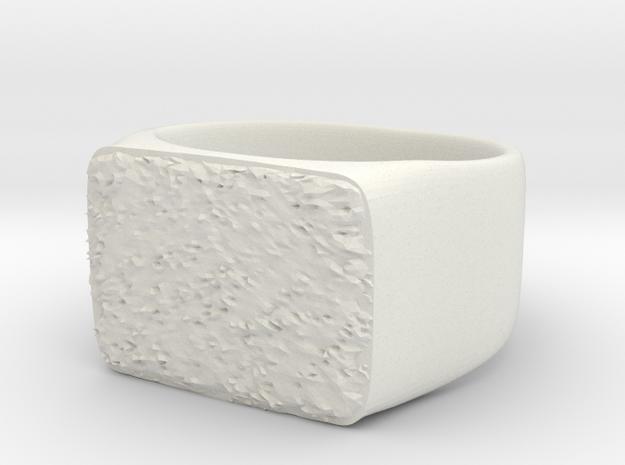 Joker's Rectangle Ring - Plastics in White Natural Versatile Plastic: 7 / 54