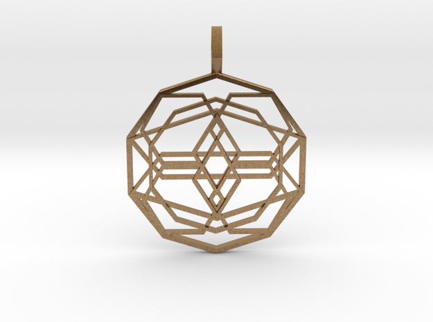 Source Sphere (Flat) in Natural Brass