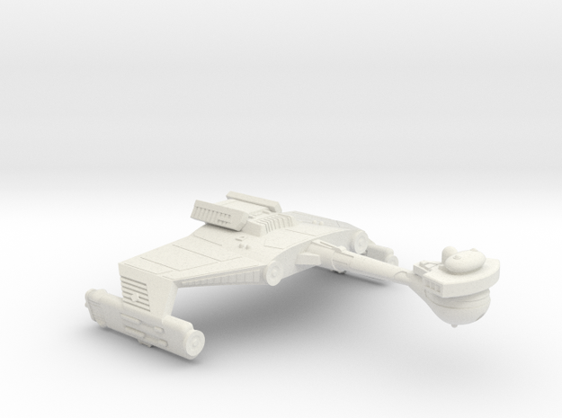 3788 Scale Klingon D5SK Refitted Scout Cruiser WEM in White Natural Versatile Plastic