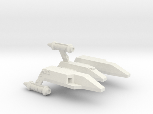 3125 Scale LDR Light Carrier CVN in White Natural Versatile Plastic