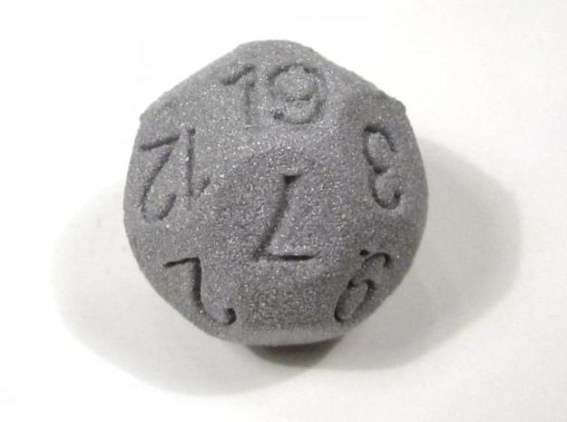 D19 Sphere Dice in White Strong & Flexible
