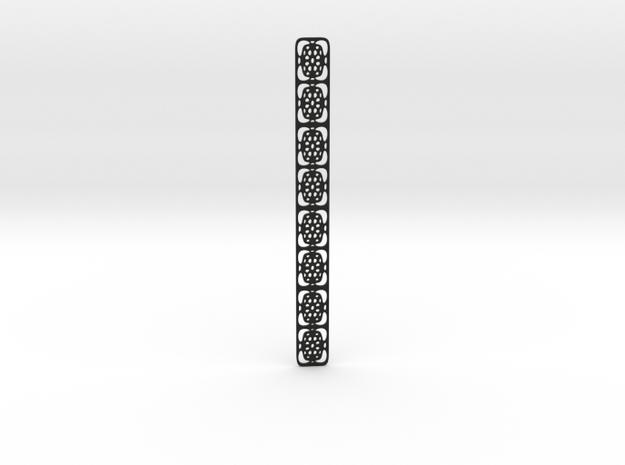 Subtle bookmark in Black Natural Versatile Plastic