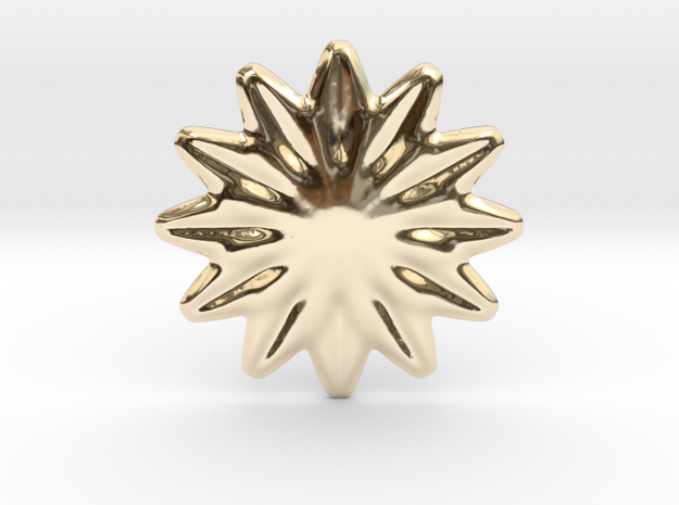 Flower shape for earrings or pendant in 14k Gold Plated Brass