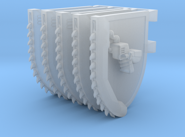 Mixed Chainshields in Smooth Fine Detail Plastic: Small