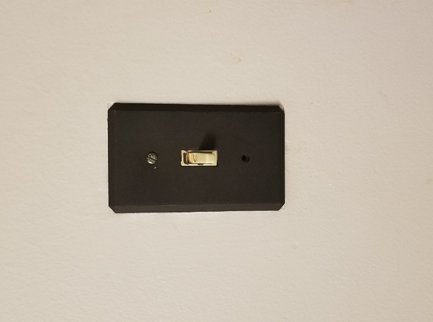 Light Switch Cover - Plain and Simple in Black Natural Versatile Plastic