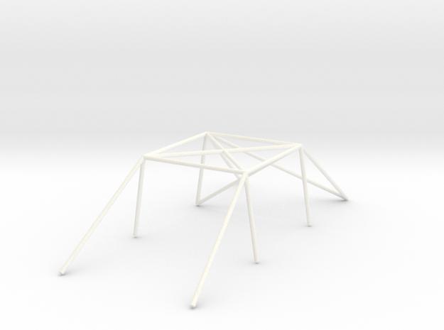 Jaula de prueba para Rallyslot 1:24 BETA in White Processed Versatile Plastic