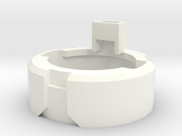 DM1 - Part 4/5 Speakerholder 24mm in White Processed Versatile Plastic