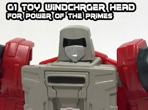Windcharger (G1 Toy) Head for PotP in Black Hi-Def Acrylate
