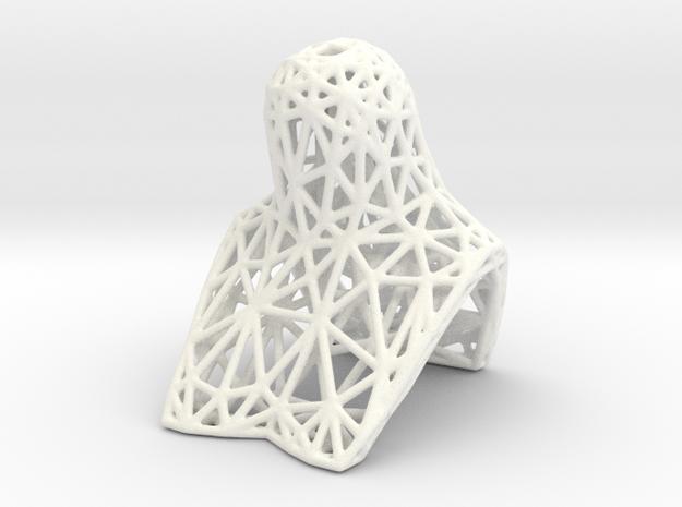 BJD BUST for SD female heads, lattice version in White Processed Versatile Plastic