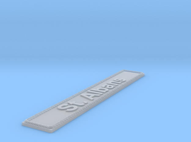 Nameplate St. Albans in Smoothest Fine Detail Plastic