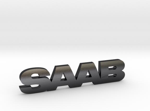 SAAB_emblem in Polished and Bronzed Black Steel