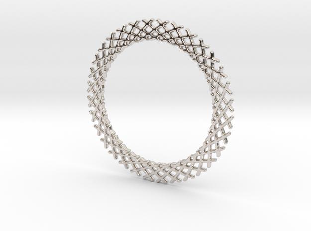 Mandala ring shape for pendants or earrings in Rhodium Plated Brass