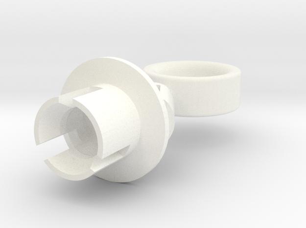 Lancia Delta 1 EVO Headlamp Clip LB 2 in White Processed Versatile Plastic