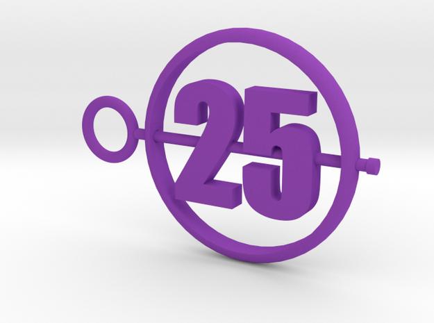 25_50mm in Purple Processed Versatile Plastic
