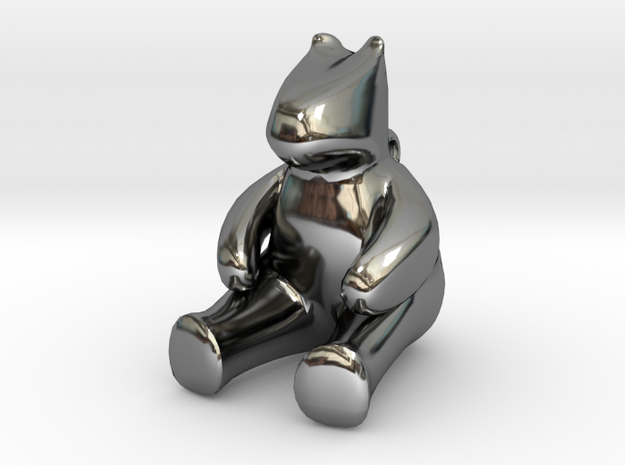 Bear in Fine Detail Polished Silver