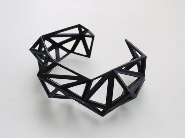 TRIANGULATED CUFF     in Black Strong & Flexible: Small