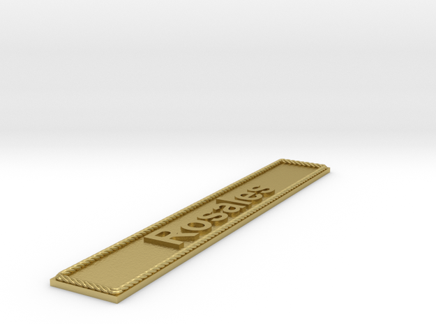 Nameplate Rosales in Natural Brass