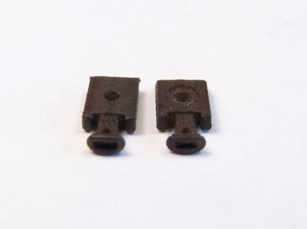 A08 N, Nn3 link and pin couplers, wrought iron x48 3d printed