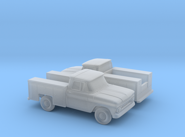 1/160 2X 1962 Chevrolet C-Series Utility in Smooth Fine Detail Plastic