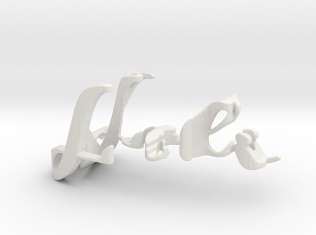 3dWordFlip: Loli/Felip in White Natural Versatile Plastic