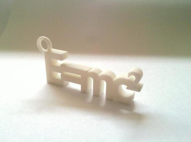 E = mc2 keyring (big version) 3d printed