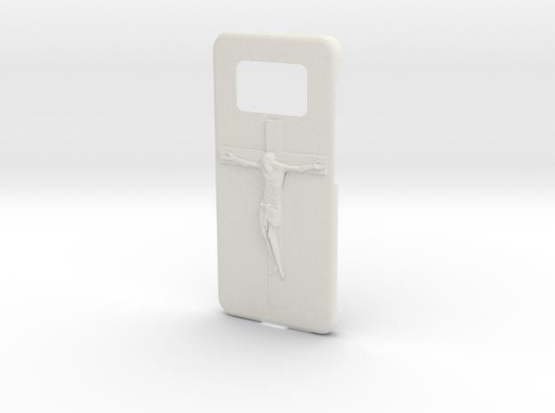 Galaxy S8 Jesus Case in White Natural Versatile Plastic