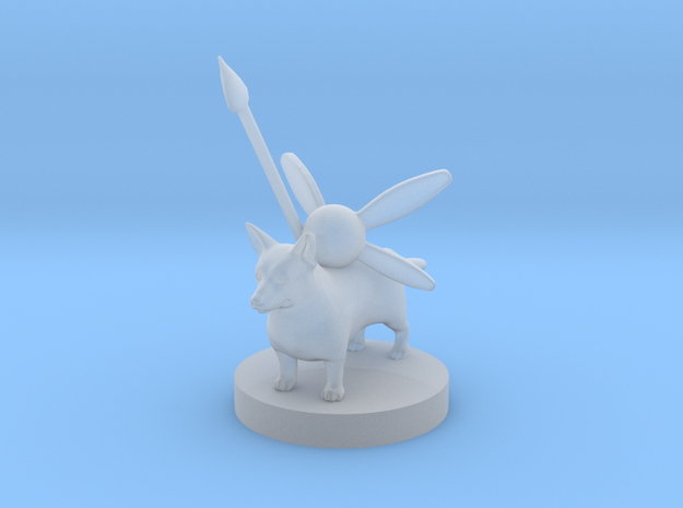 Pixie on a Corgi in Smooth Fine Detail Plastic