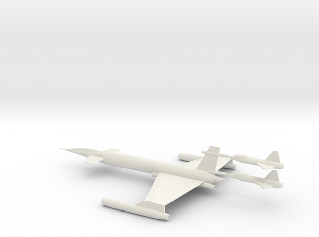 XAB-1 Scale 144:1 w_2 Parasite Fighters in White Natural Versatile Plastic