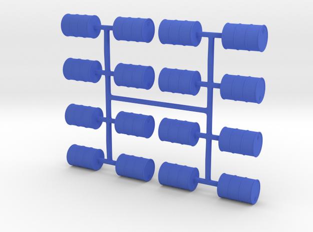 Oil Drum 16 Pack in Blue Processed Versatile Plastic