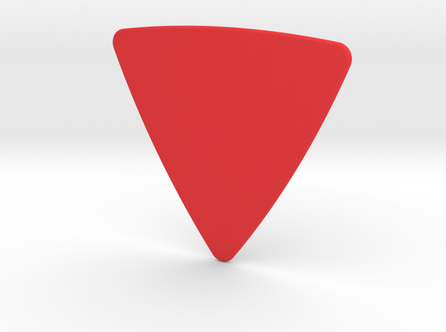 Plectrum Triangle in Red Processed Versatile Plastic