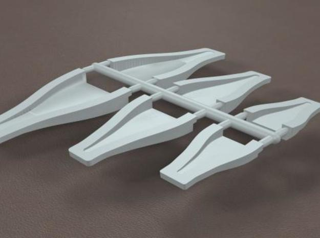 1/8 Scale NACA Duct Assortment in White Strong & Flexible