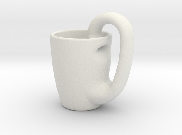 Klein_Mug in White Natural Versatile Plastic