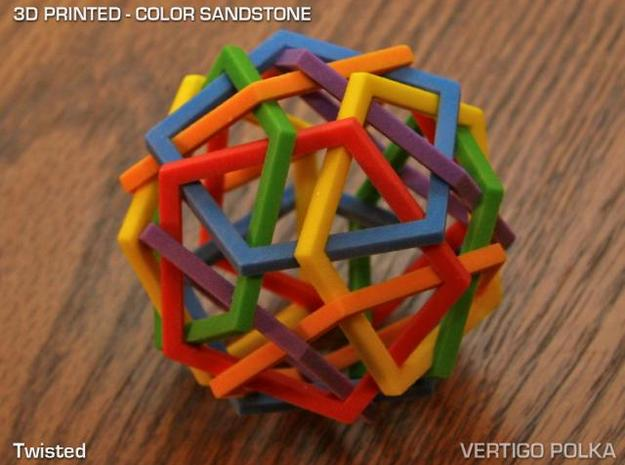 Twisted 3d printed color sandstone