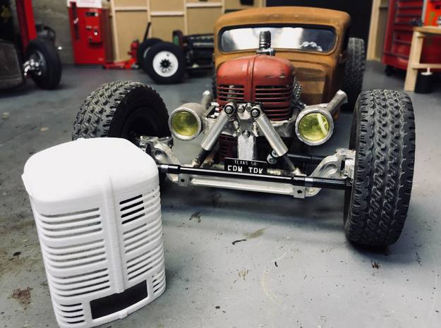 Vintage Tractor Grille in White Processed Versatile Plastic