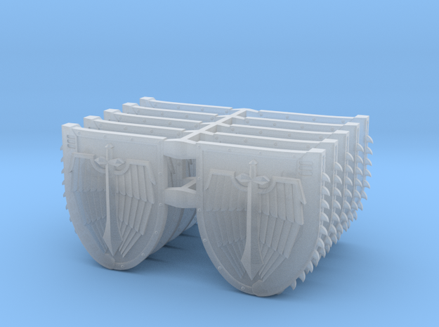 Mixed Chainshield (Winged Sword design) in Smooth Fine Detail Plastic: Large