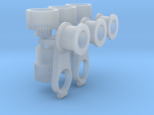 6-71_Blower_pulleys_x3_1_18 in Smooth Fine Detail Plastic