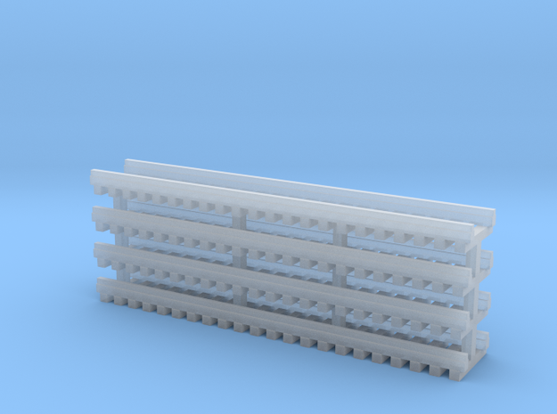 Track For LogMover N 160:1 Scale in Smooth Fine Detail Plastic