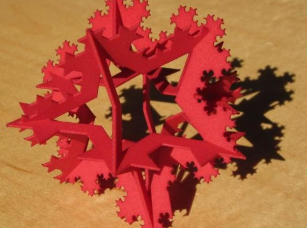 Koch Ornament, small in Red Processed Versatile Plastic