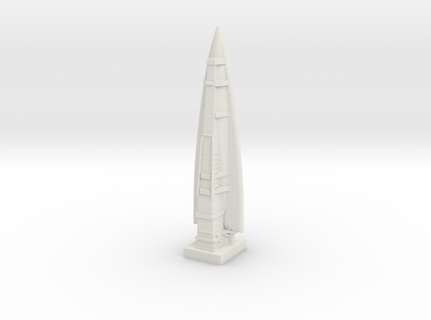 A-9 Rocket (Germany) ICBM in White Natural Versatile Plastic