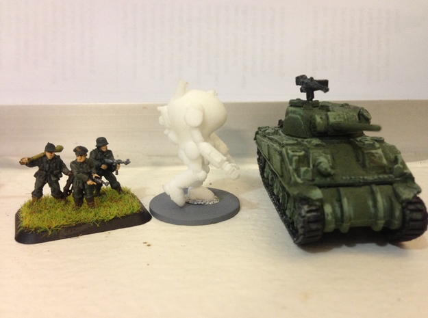 """PanzerAnzug """"WWII"""" German Power Armour for 15mm 3d printed Side view"""