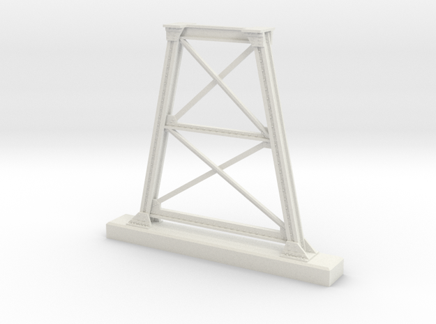 7mm Scale NSWGR Steel Bridge Trestle in White Natural Versatile Plastic