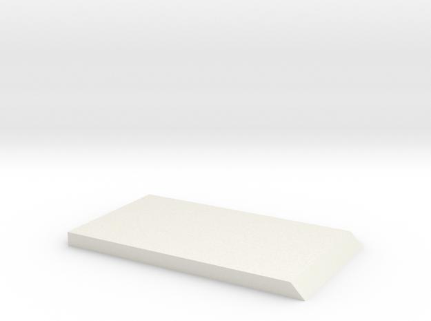 Plate near licence plate light D90 Team Raffee in White Natural Versatile Plastic